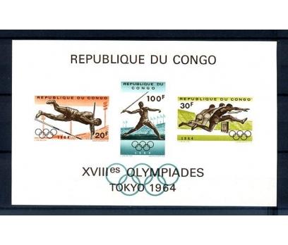 KONGO ** 1964 OLİMPİYATLAR  BLOK  (310814)
