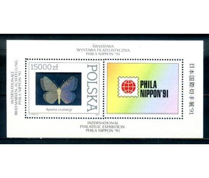 POLONYA ** 1991 KELEBEK HOLOGRAMLI BLOK (270814)