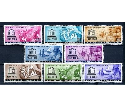 RUANDA ** 1966 UNESCO TAM SERİ (300814)