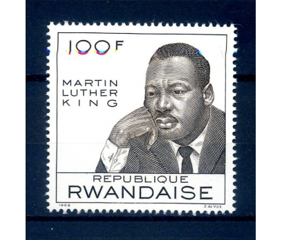RUANDA ** 1968 M.LUTHER KİNG TAM SERİ (290814)