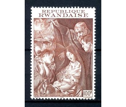 RUANDA ** 1972 TABLO & CHRISTMAS TEK PUL (290814)