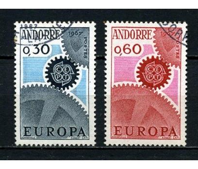 FR.ANDORRA  İGD 1967 EUROPA CEPT SÜPER(020914)