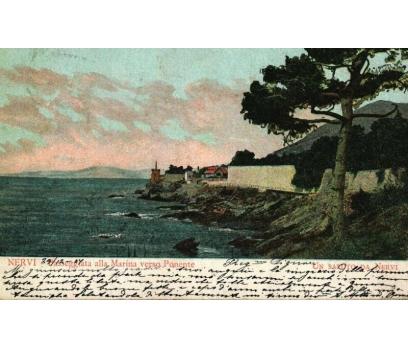NERVİ  ** 1907 İTALYA PG KARTPOSTAL (130914)