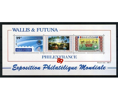 WALLIS ET FUTUNA** 1989  FİLATELİ S. BLOK (220914)