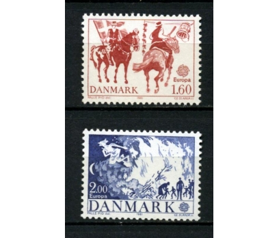 DANİMARKA ** 1981 EUROPA CEPT TAM SERİ(300914)