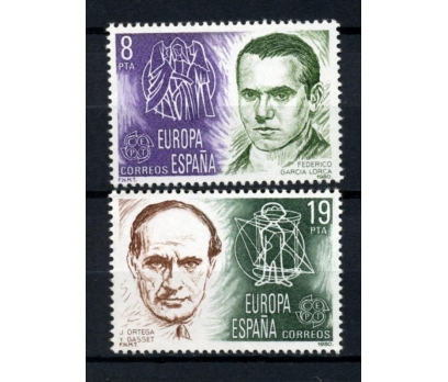 İSPANYA ** 1980 EUROPA CEPT TAM SERİ (300914)
