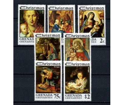 GRENADA ** 1975 TABLO & CHRISTMAS TAM SERİ(061014)