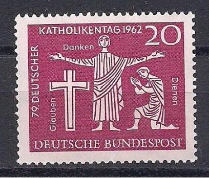 1962 Almanya Katolik Günü Damgasız**