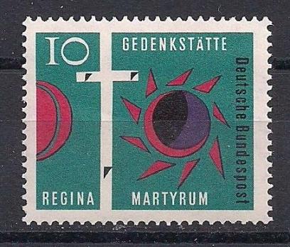 1963 Almanya Regina Mezarlığı Damgasız**