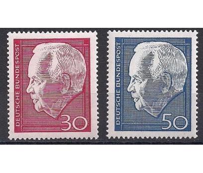 1967 Almanya Başkan Lubke Damgasız**