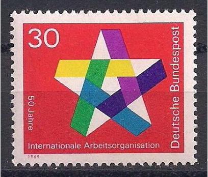 1969 Almanya I.L.O. 50. Yıl Damgasız**