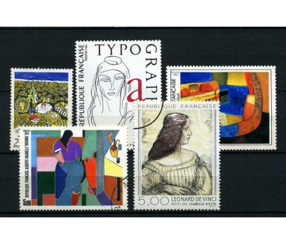FRANSA DAMGALI 1986  5 TAM SERİ (021214)
