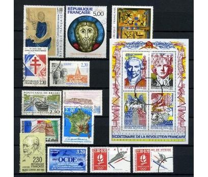 FRANSA DAMGALI 1990-2  14 TAM SERİ (021214)