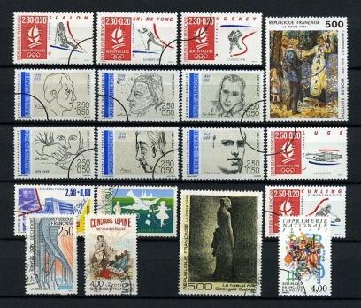 FRANSA DAMGALI 1991-1  13 TAM SERİ (021214)