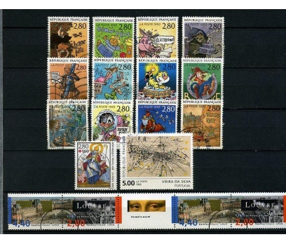 FRANSA DAMGALI 1993-3   4 TAM SERİ (021214)