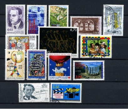 FRANSA DAMGALI 1996-3   14 TAM SERİ (031214)