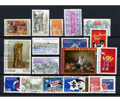 FRANSA DAMGALI 1997-3   16 TAM SERİ (031214)