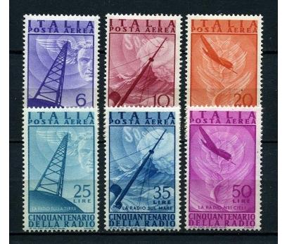 İTALYA * 1947 UÇAK & RADYO TAM SERİ SÜPER (130115)