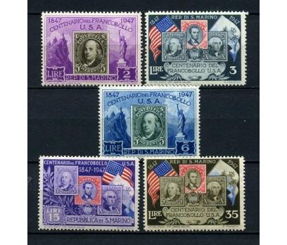 SAN MARİNO ŞARN.1947 PUL SERG. 5 VALÖR (270115)