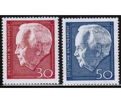 ALMANYA (BATI) 1967 DAMGASIZ HEİNRİCH LÜBKE SERİSİ