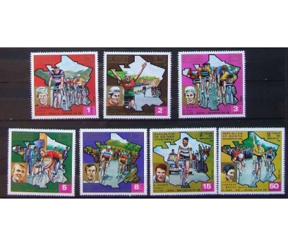 1972 Ekvator Gine Tour De France Bisiklet Damgas**