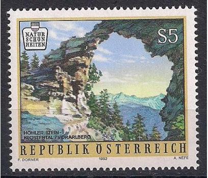 1992 Avusturya Doğal Güzellikler Damgasız**