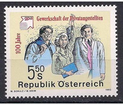 1992 Avusturya İşçiler Sendikası Damgasız**