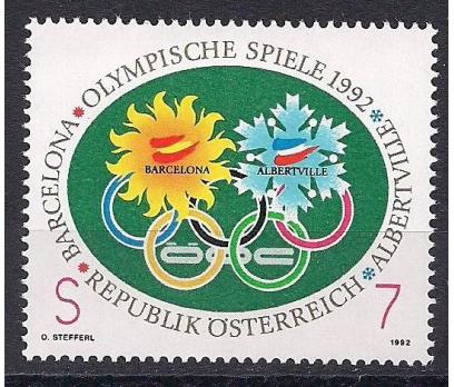 1992 Avusturya Kış Olimpiyat Oyunları Damgasız**