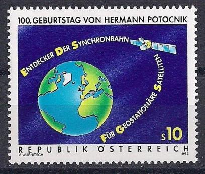 1992 Avusturya Uzay Hermann Potocnik Damgasız**