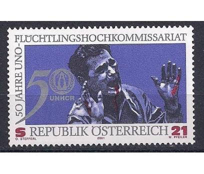 2001 Avusturya Mülteciler Yüksek Komiser Damgasız