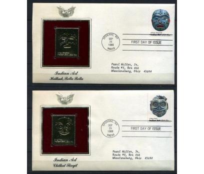 ABD 4 GOLD FDC 1980 MASKELER SÜPER (170315)