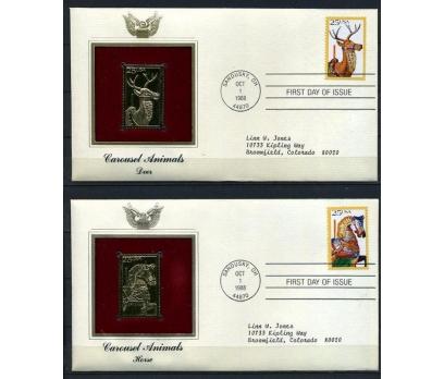 ABD 4 GOLD FDC 1988 ATLIKARINCA HAYVANLARI(180315)