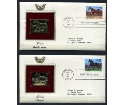 ABD 5 GOLD FDC 1986 BALIKLAR TAM SERİ (180315)