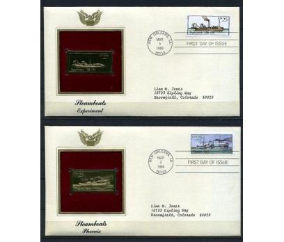 ABD 5 GOLD FDC 1989 BUHARLI GEMİLER TAM S.(180315)