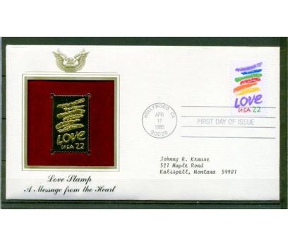 ABD GOLD FDC 1985 AŞK SÜPER (170315)