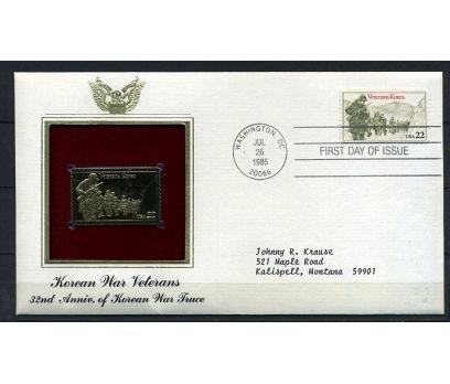 ABD GOLD FDC 1985 KORE SAVAŞI TAM SERİ  (170315)