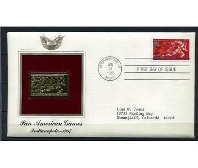 ABD GOLD FDC 1987 PAN AMERİKAN OYUN SÜPER (170315)