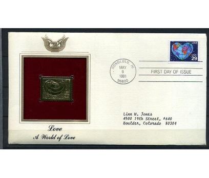 ABD GOLD FDC 1991 AŞK SÜPER (170315)