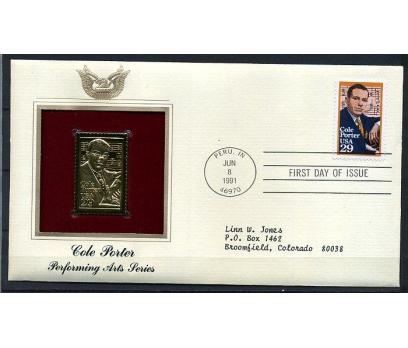 ABD GOLD FDC 1991 COLE PORTER SÜPER (170315)