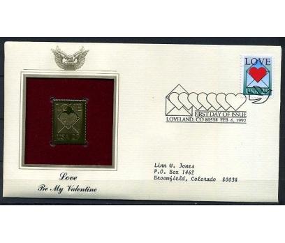 ABD GOLD FDC 1992 AŞK SÜPER (170315)