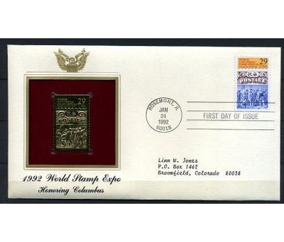 ABD GOLD FDC 1992 DÜNYA PUL SERGİSİ SÜPER (170315)