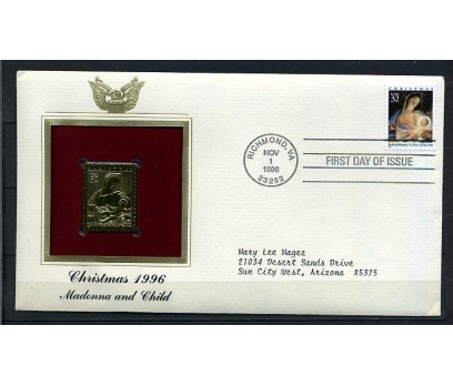 ABD GOLD FDC 1996 CHRISTMAS TAM SERİ (180315)