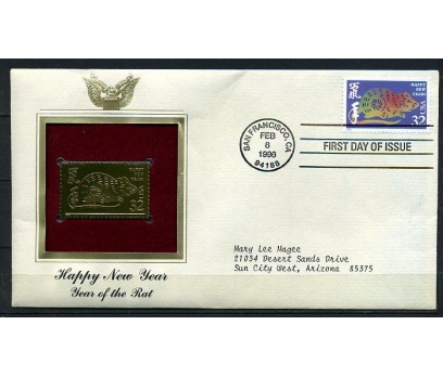 ABD  GOLD FDC 1996 FARE YILI TAM SERİ (180315)