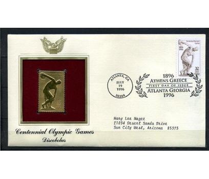 ABD  GOLD FDC 1996 OLİMPİYATLAR  TAM SERİ (180315)