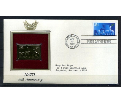 ABD GOLD FDC 1999 NATO 50.YIL TAM SERİ (180315)