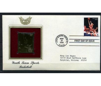ABD  GOLD FDC 2000  BASKETBOL (190315)