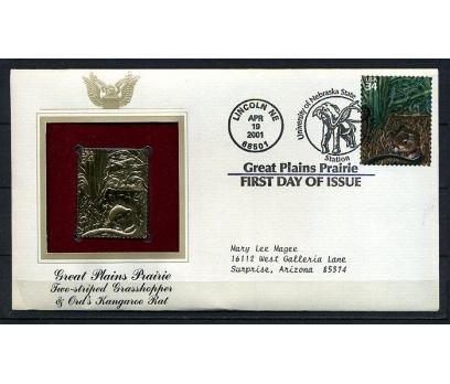 ABD  GOLD FDC 2001 HAYVANLAR (190315)