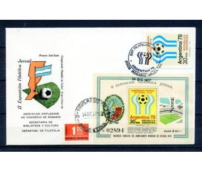 ARJANTİN 1978 FDC FUTBOL & BLOK SÜPER (070315)