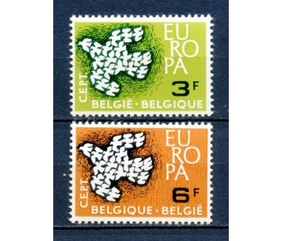 BELÇİKA ** 1961 EUROPA CEPT TAM SERİ (220315)