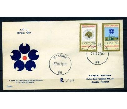 CUMH.FDC 1970 EXPO 70 OSAKA KAMER (280215)